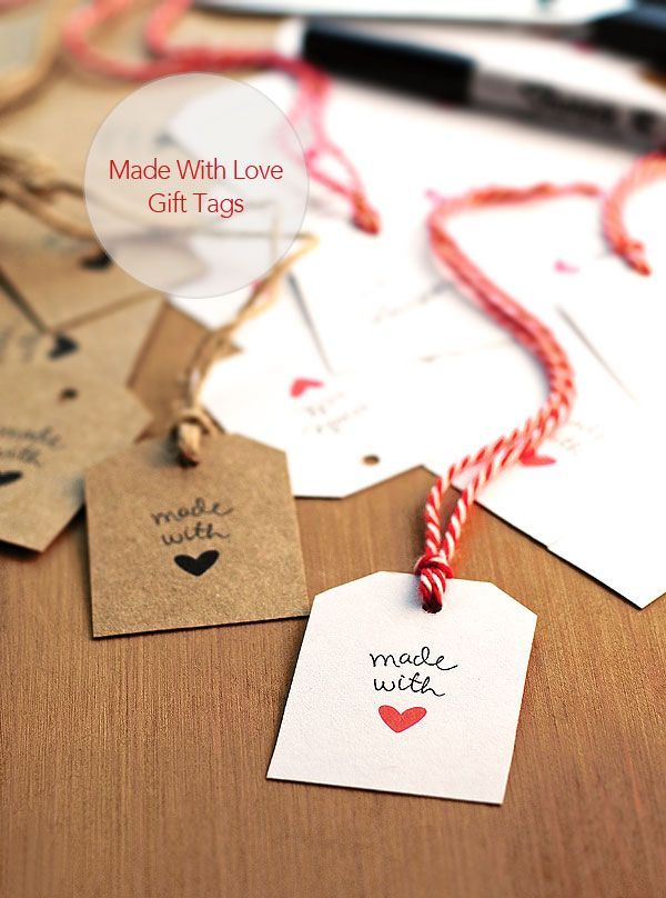 FREE Made With Love Gift Tags available for instant download #valentines