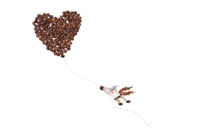 Beans Coffe Beans Coffee Creative Creativity Flying Flying High Food Foodphotography Funny Heart No People Studio Shot Sugar White Background