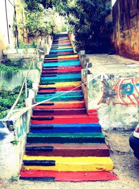 Les plus beaux escaliers au monde Street-art. Beyrouth, Liban