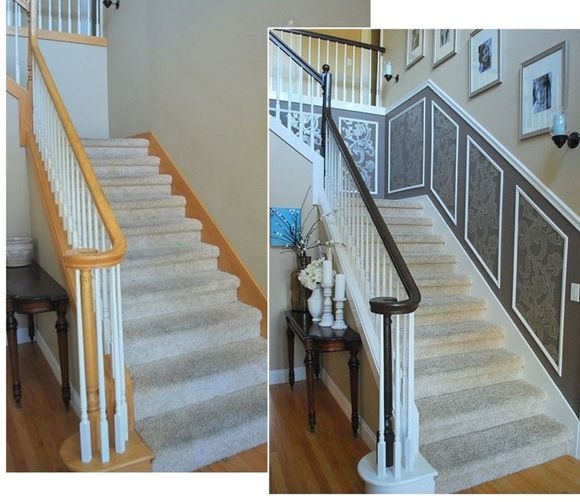 25 Pretty Painted Stairs Ideas: 14 Best Images About Paint The Wood Trim On Pinterest