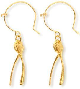 Claire English wishbone earrings: Best of British jewellery designers