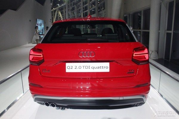 Indian-specific Audi Q2 2.0 TDI Quattro showcased in China The German carmaker has showcased the Indian-specific Audi Q2 TDI Quattro crossover in China before its market launch in the country, according to the images from PCauto.com. The Audi Q2 crossover was debuted at the 2016 Motor Show in Geneva and the youngest Q series model is expected to launch in the Indian market later this year.