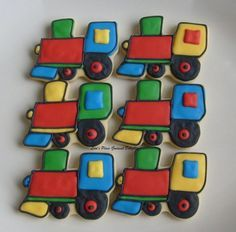 PLANES and TRAINS Airplane Cookies Train Cookies door lorisplace
