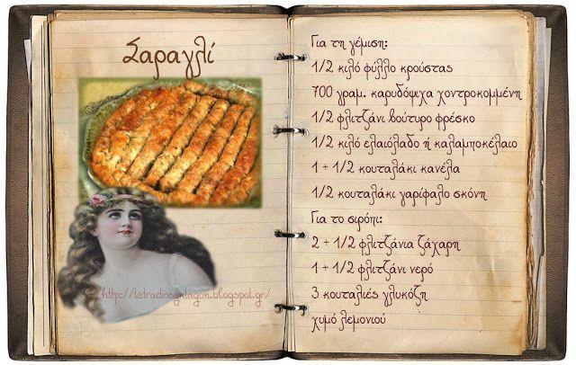 Συνταγές, αναμνήσεις, στιγμές... από το παλιό τετράδιο...: Σαραγλί