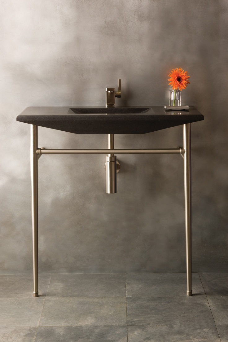 Stone Forest Sinks : The Stone Forest Cortina Console sink features interplays of crisp ...