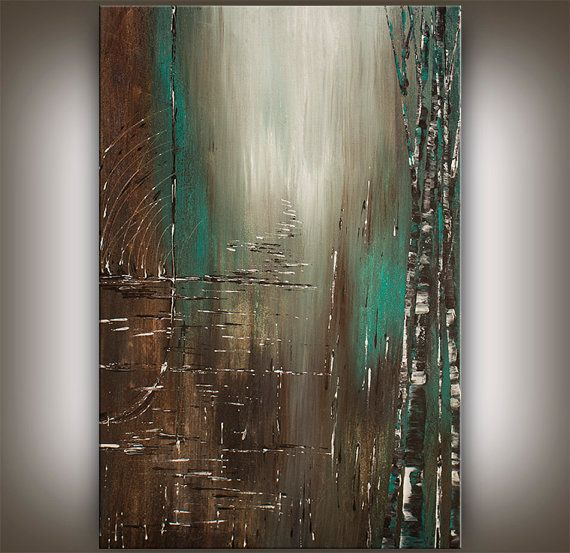 Original acrylic landscape painting abstract painting for Modern abstract paintings for sale