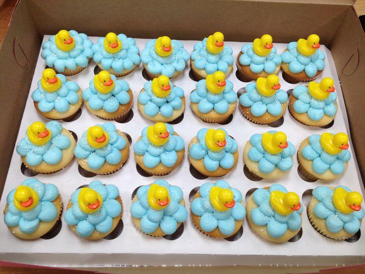 Rubber Ducky Bubble Bath Cupcakes Baby Shower Cupcakes