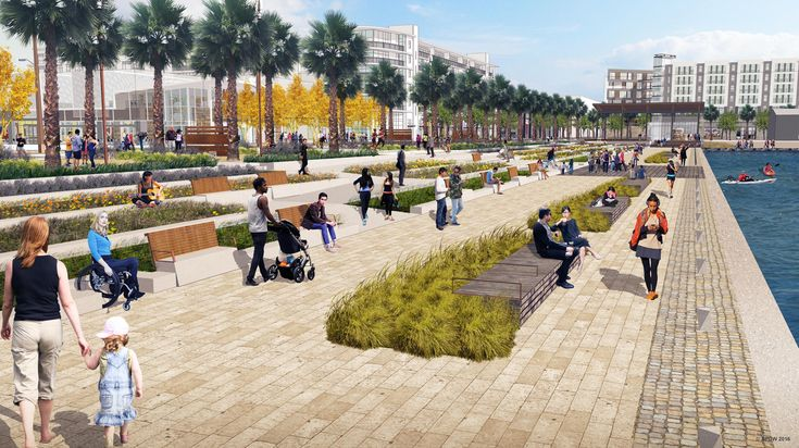 Image result for urban waterfront park