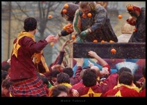 """""""Battle of the Oranges"""", Ivrea"""