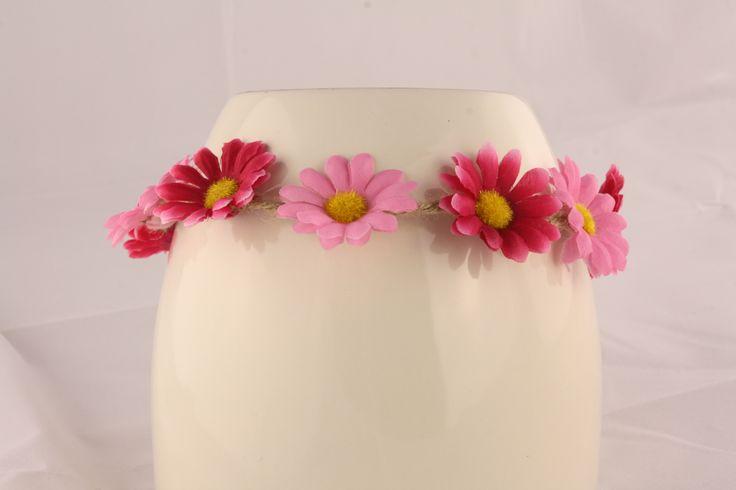 Multi-Pink Floral Head Piece
