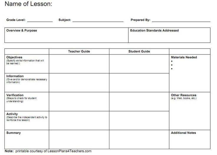 19 Best Lesson Plan Template Images Free Teachers Planner
