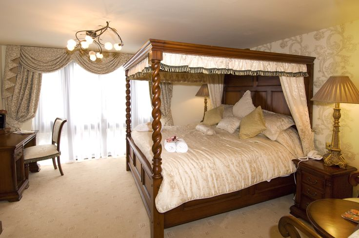One of the stunning bedrooms at Angmering Manor