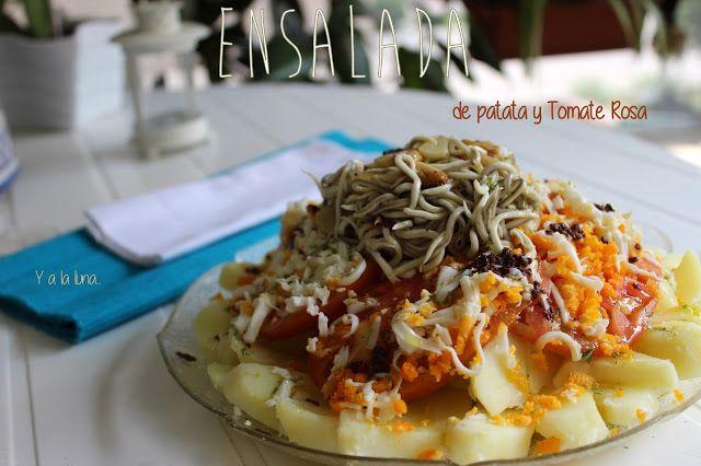@pilargilse para #RecetarioMañoso: Ensalada de Patata y Tomate Rosa