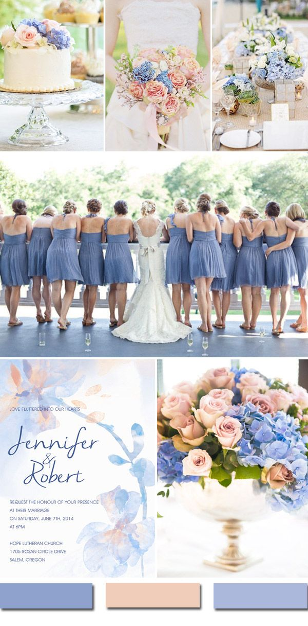 pastel pink & serenity blue wedding color ideas for 2016