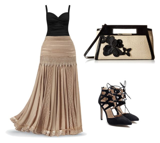my golden lady by nagma-dhingra on Polyvore featuring polyvore fashion style La Blanca Brahmin clothing
