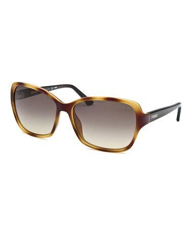 Loving this Light Havana Rectangle Sunglasses on #zulily! #zulilyfinds