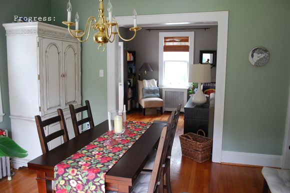 Salisbury Green, Benjamin Moore (historical collection) Living room. Favorite Paint Colors: green