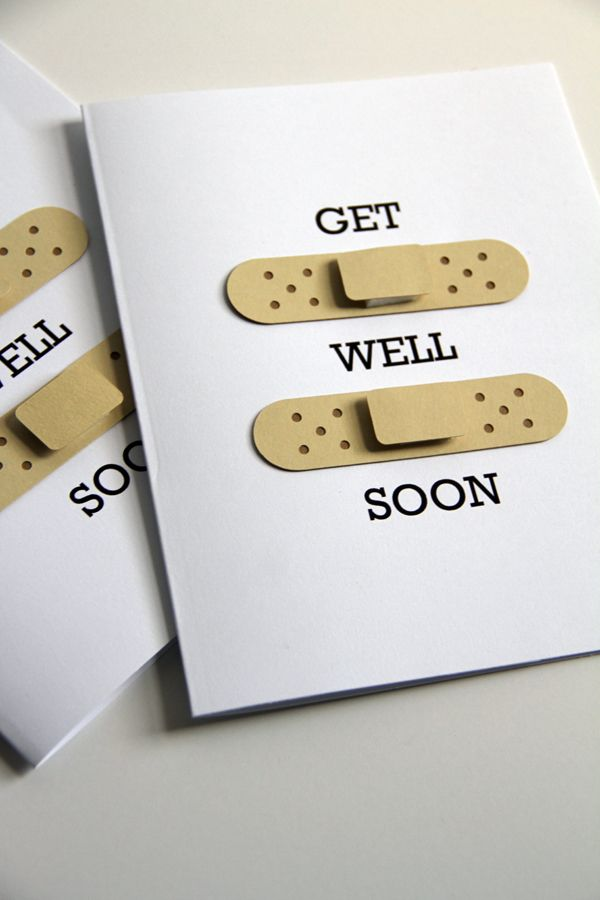 How to make this super easy Get well soon card with band-aids. - make things by Jen
