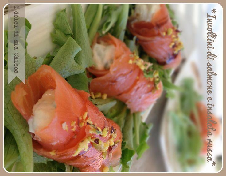 Involtini di salmone e insalata russa