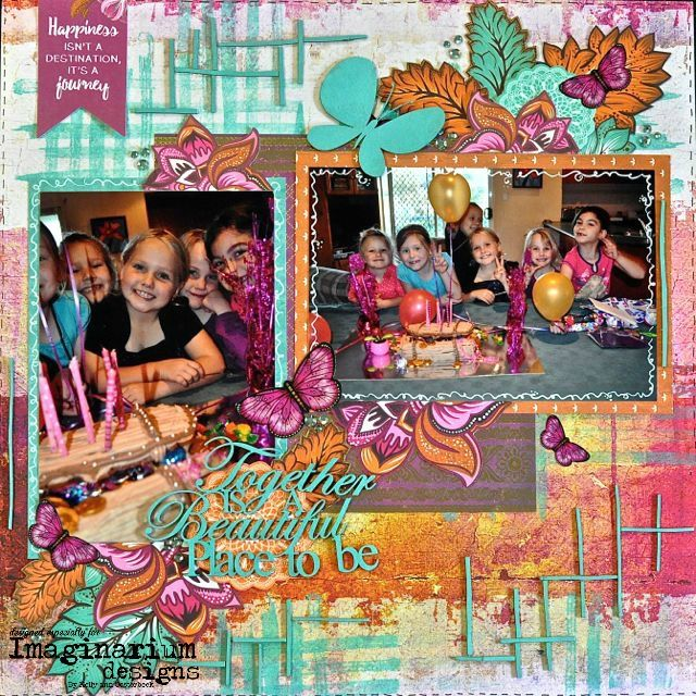 A Layout by Kelly-ann Oosterbeek made using the Bombay Sunrise Collection from Kaisercraft and Imaginarium Designs Chipboard www.kellyanno.com