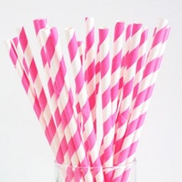 retro papieren rietjes Pink | Papieren Rietjes | LangZalZeLeven