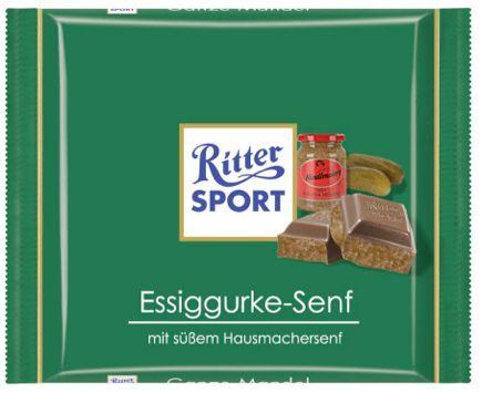 RITTER SPORT Fake Schokolade Essiggurke-Senf