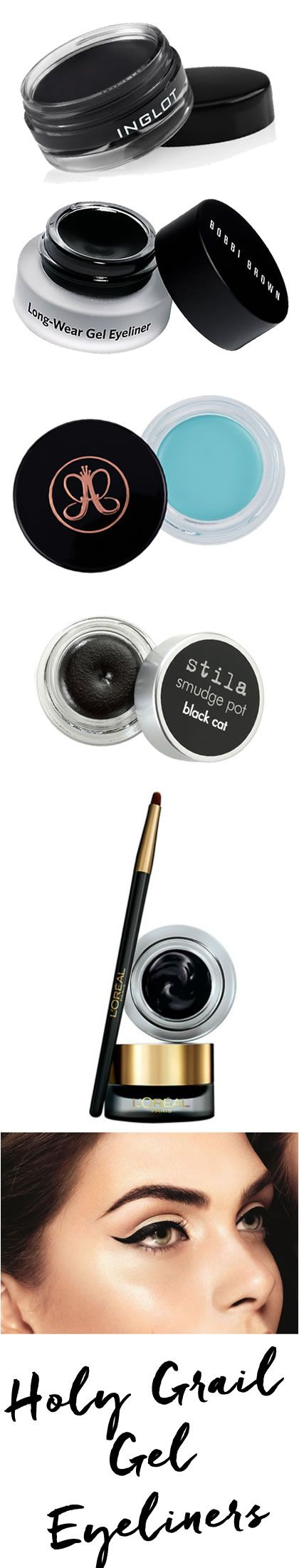 Our picks for the best Gel Liners out there!!  http://blog.pampadour.com/monday-must-haves-best-gel-eyeliners/ #makeup #eyes #liners