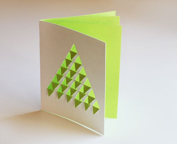 DIY geometric Christmas tree card