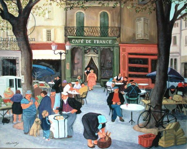 Cafe, Provence - margaret loxton