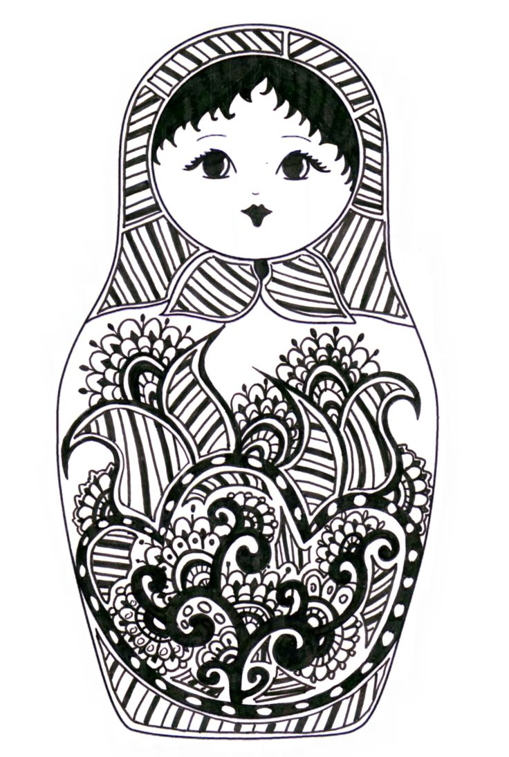 babushka coloring pages - photo#17