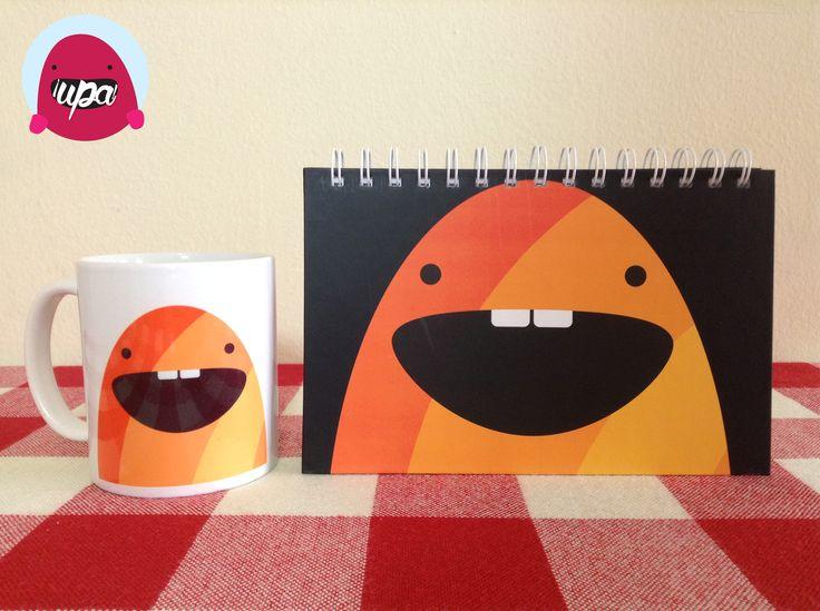 Cuaderno y mug de monstruo / notebook / mug / monster / design / illustration
