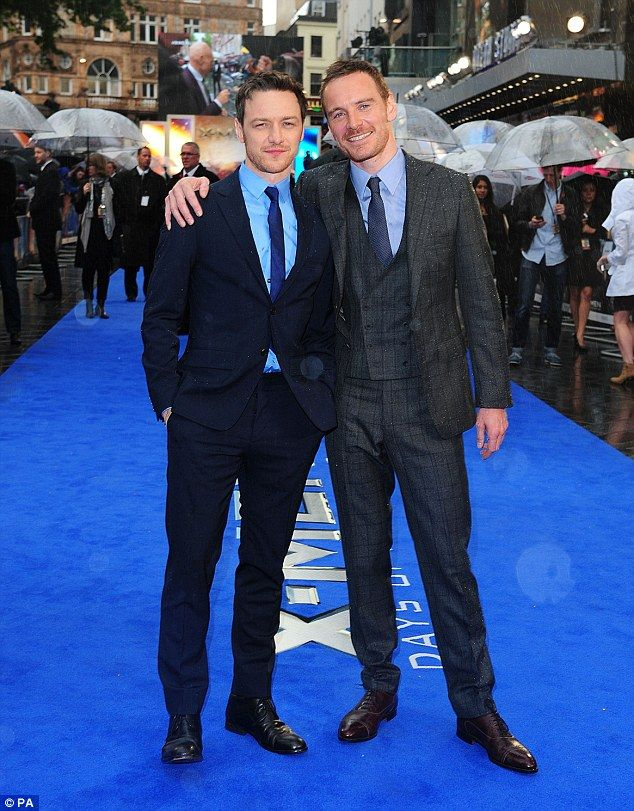 Dapper pair: James McAvoy(Young Xavier) and Michael Fassbender (Young Magento) proved they...