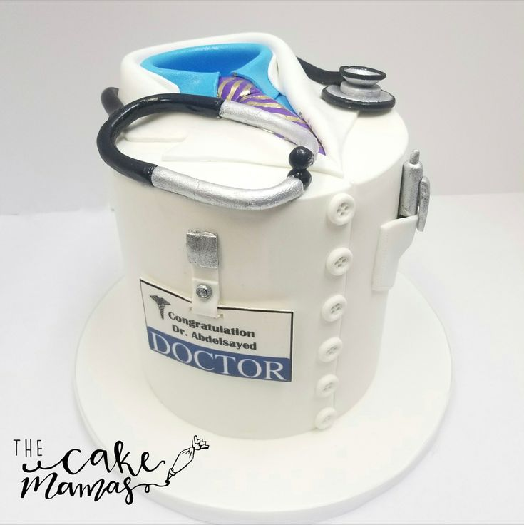 Medical School Graduation Cake! Call and place your graduation cake orders today! #cake #birthdaycake #graduation #graduationcake #fondant #doctor #celebrate