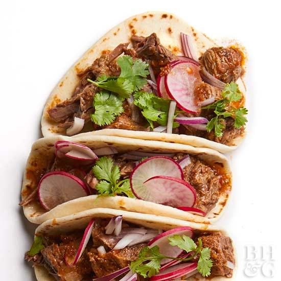 If you're a fan of spice and short ribs, you'll be in heaven when you try these slow cooker braised beef tacos.