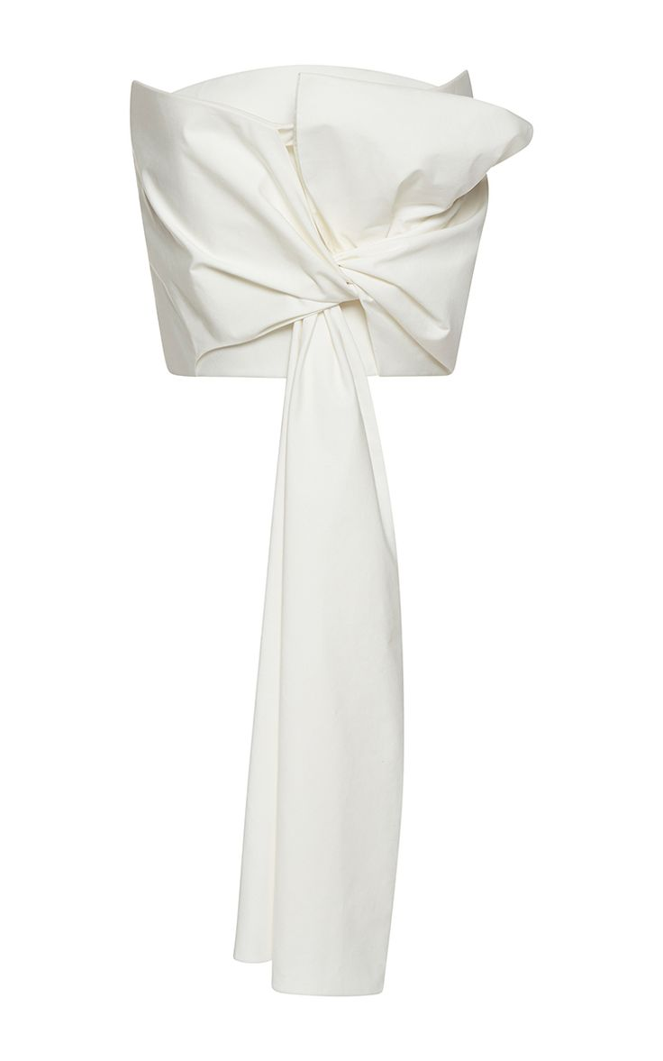 Strapless Draped Bow Top by DELPOZO | Moda Operandi