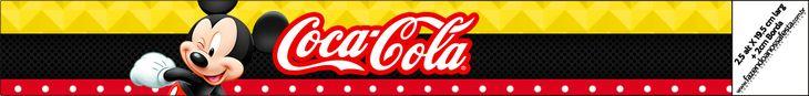 Rótulo mini coca cola mickey