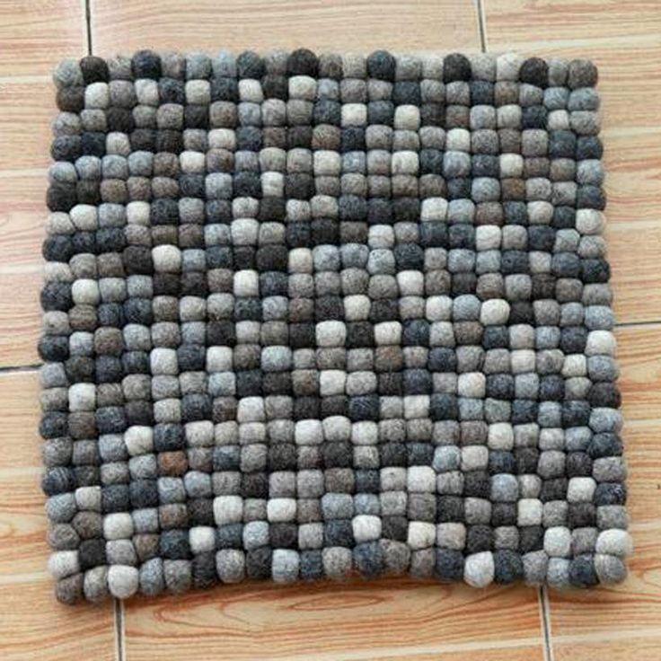 40 см Круглый Квадратной Формы ручной работы подушки мат Шерсть Чувствовал Мяч Ковер Природные Ручной работы В Непале Непальских Женщин