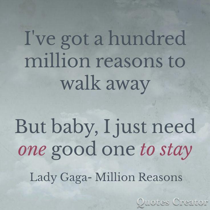 A Million Reasons by Lady Gaga