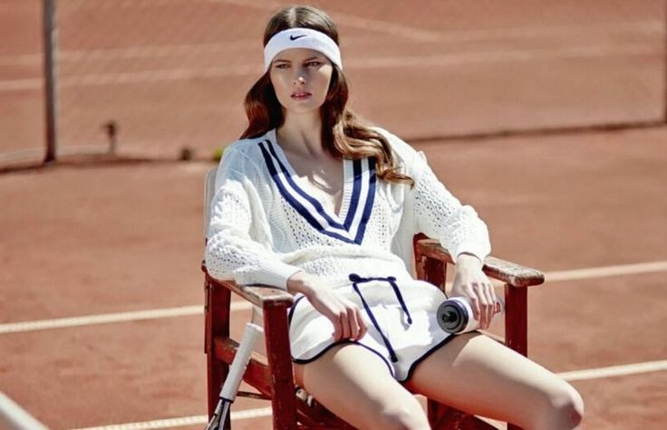 Mirror Magazine's Tennis Club Editorial is Preppy and Sophisticated #fashion trendhunter.com