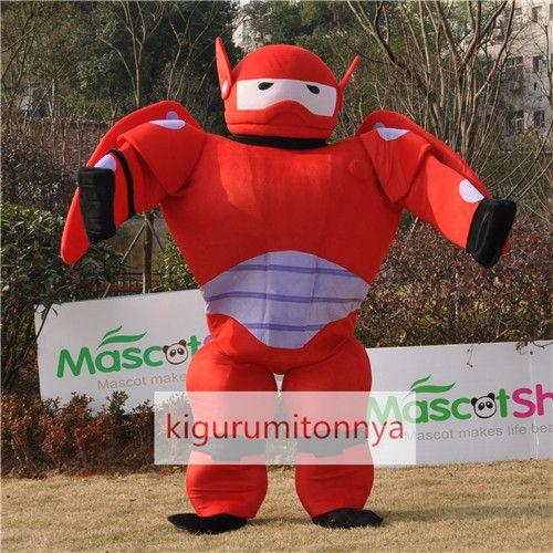 赤装甲のベイマックス着ぐるみ Baymax big hero ビッグ・ヒーロー・シックス http://www.kigurumitonnya.jp/news-mascot-product/cartoon-series-big-hero-red-baymax-mascot-adult-costume.html