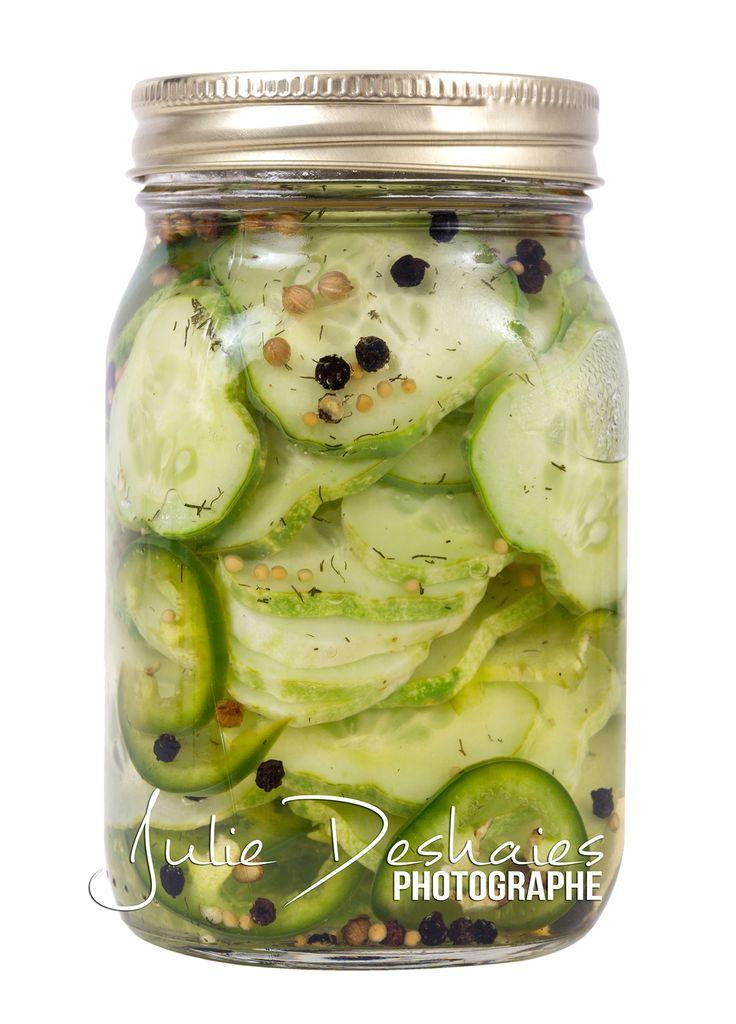 Cornichons marinés facile en pot mason #cornichon #dill #pickled #jar #pot #recette #recipe