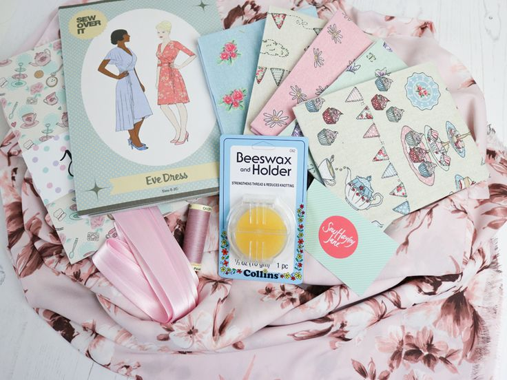 """July's """"Summer Garden Party"""" themed sewing subscription box from SewHayleyJane"""