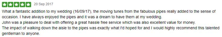I received this Freeindex 5 Star Review recently from the Bride & Groom, Rachel & Lee. The Wedding took place at The Wood Norton near Evesham :-) Thank you both some much :-)  #SouthWales #Weddingmusic #Evesham #Cardiff #Worcs #ValeofGlamorgan #Gwent #Gloucs #NewportWales #Newport #Chepstow #Bristol #Worcestershire
