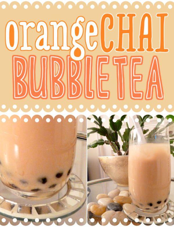 Orange Chai Bubble Tea (Vegan)