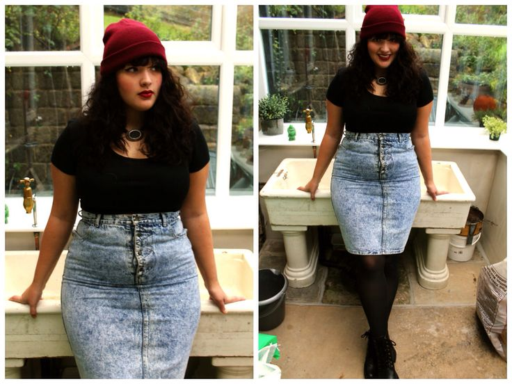 90s grunge style revival. Plus size.