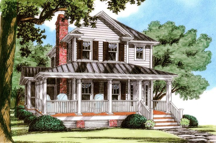 """<ul><li><strong>MORE PHOTOS</strong>: See more photos of this house plan in our <a href=""""http://bit.ly/15000nc-g"""">Google+</a> and <a href=""""http://bit.ly/15000nc-f"""">Facebook</a> photo albums.</li><li>This cozy country farmhouse has a fantastic wraparound porch that has a partially screened-in portion and a deck in the back that gives you multiple options t..."""