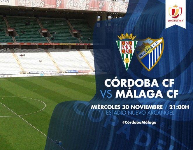 El Málaga CF visitará mañana el Nuevo Arcángel para medirse al Córdoba CF, en la ida de 1/16 de final de la Copa del Rey. El valenciano Mateu Lahoz arbitrará un encuentro que comenzará a las 21:00 horas (Bein Sports).