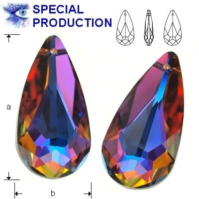 6100 Teardrop 24mm Volcano  Dimensions: 24,0x12,0 mm Colour: Volcano 1 package = 1 piece