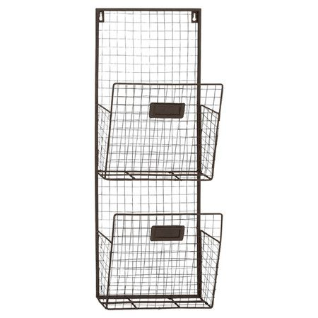 Organize mail in the entryway with this iron wall rack, or add labels and let the kids create a handy homework station in your home office. ...