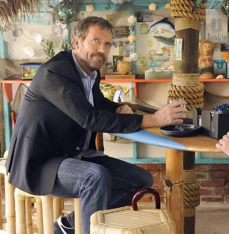 Cheers...#HughLaurie #HouseMD #DrHouse #GregoryHouse